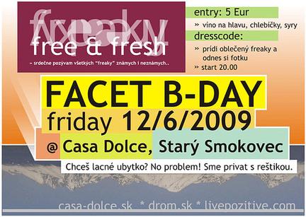 Free, Fresh, Freaky & Facet B-day
