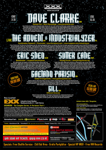 "Gazometer ""X-Perience – The Complex Series: Part One"""
