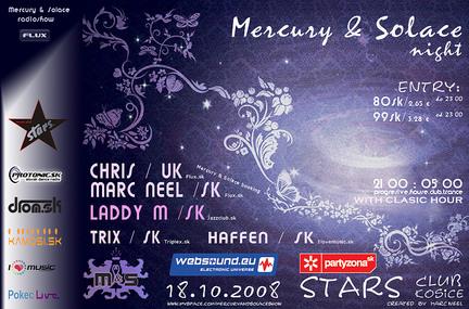 Mercury & Solace night @ Stars club 18.10.2008