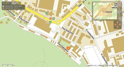 mapa ku klubu Piano