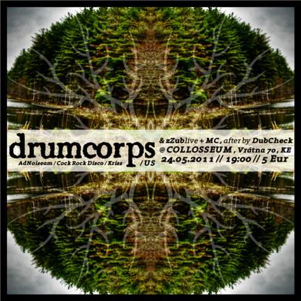 DRUMCORPS (US) live + ZZUB live + DubCheck