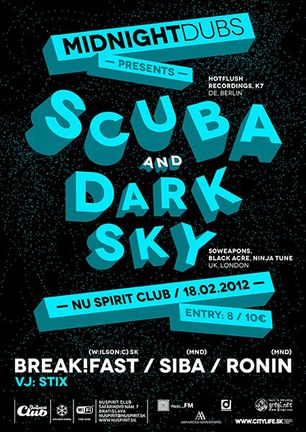 MidnightDubs presents SCUBA (DE) & DARK SKY (UK)