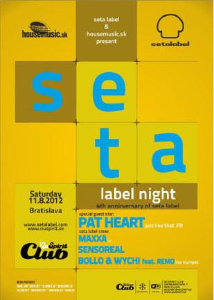 SETA LABEL NIGHT @ NU SPIRIT CLUB